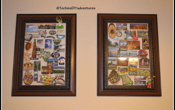 magnetic picture frame refrigerator magnet display boards, crafts, repurposing upcycling, wall decor