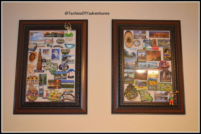 Magnetic Picture Frame Refrigerator Magnet Display Boards Crafts Repurposing Upcycling Wall Decor