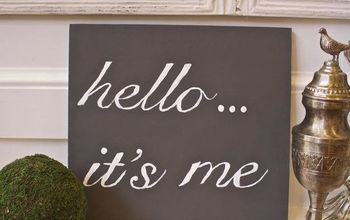 diy painted sign the easy way, crafts, how to