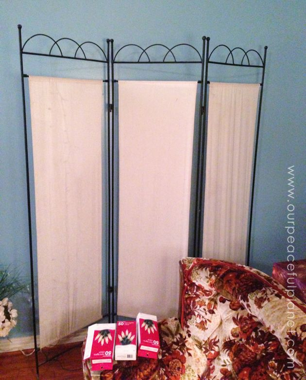 Twinkle Lights Room Divider Makeover | Hometalk