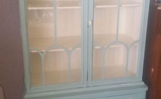 this is what the old or antique china cabinet can look like, chalk paint, painted furniture