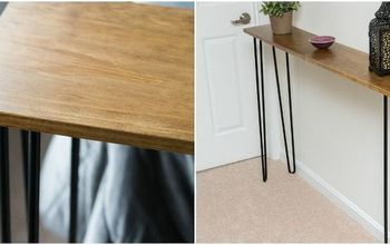 Leftover Piece of Pine Becomes a Console Table