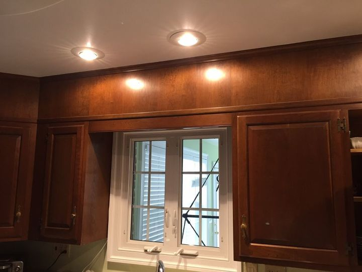 q leave or remove cabinet trim above kitchen window, kitchen design