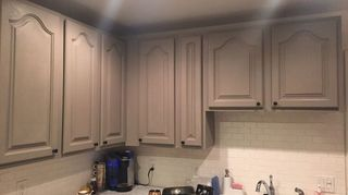 q refacing mica kitchen cabinets, cosmetic changes, home improvement, kitchen cabinets, After