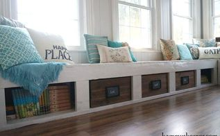 turning an old plank walkway into window seats, diy, repurposing upcycling, woodworking projects