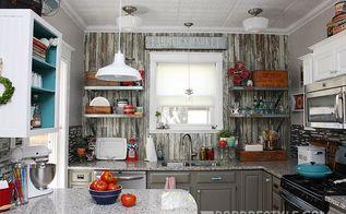 diy vintage farmhouse kitchen remodel, diy, home improvement, kitchen design, shelving ideas