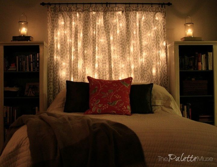Make Your Own Dreamy Lit Headboard - It\'s Easier Than You Think ...