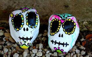 sugar skull yard decorations, crafts, gardening