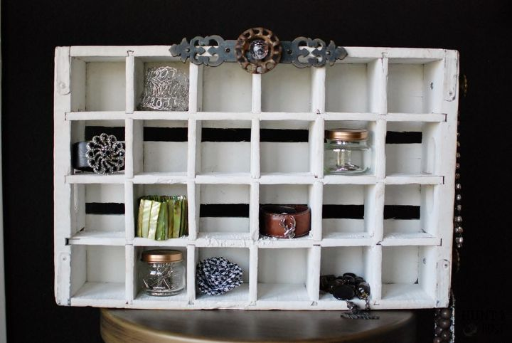 soda crate jewelry organizer, organizing, repurposing upcycling, storage ideas