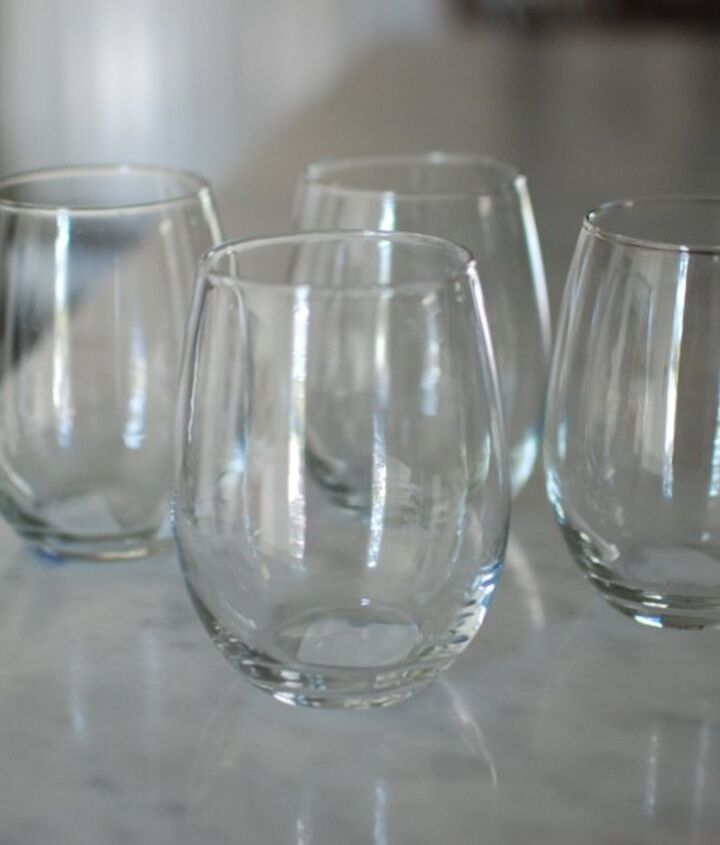 gold dipped party glasses, crafts