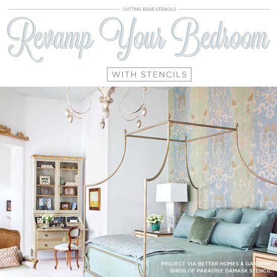 revamp your bedroom with stencils, bedroom ideas, painting, wall decor