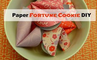 paper fortune cookie diy perfect for valentine s day, crafts, seasonal holiday decor, valentines day ideas