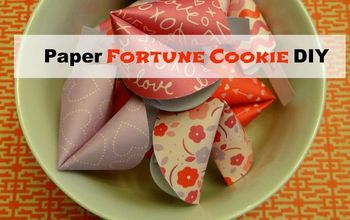 Paper Fortune Cookie DIY Perfect for Valentine's Day!