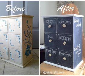 Little Drawer Organizer Update With Chalkboard Paint, Chalkboard Paint,  Organizing, Painted Furniture