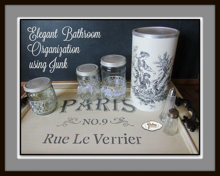 bathroom organization using repurposed items, bathroom ideas, chalk paint, organizing, repurposing upcycling