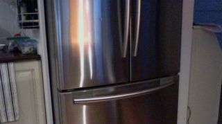 q remove protective film glue from ss fridge front, appliances, cleaning tips, house cleaning, How s this for near perfection