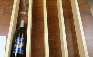 diy wine rack great way to display wines and glasses, shelving ideas, woodworking projects
