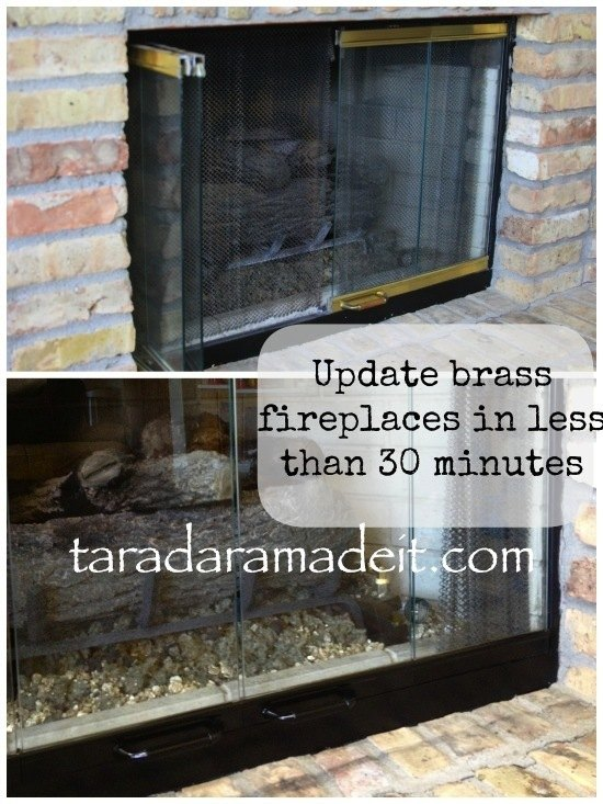 Update Your Brass Fireplace Without Removing The Doors