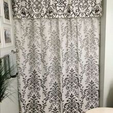 no sew shower curtain valance in no time, bathroom ideas, how to, reupholster, Finished Project