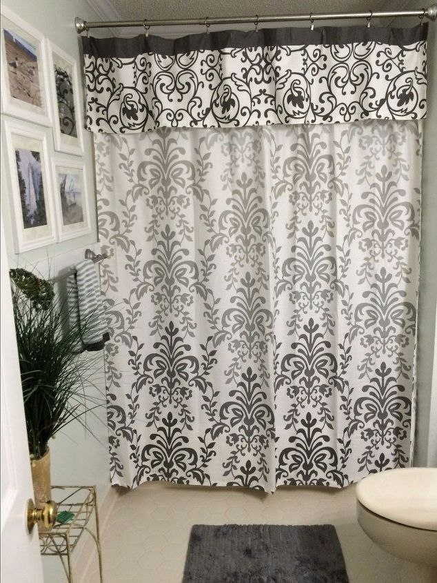 No Sew Shower Curtain Valance In No Time! | Hometalk