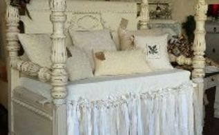 1930 s waterfall headboard and footboard turned bench, outdoor furniture