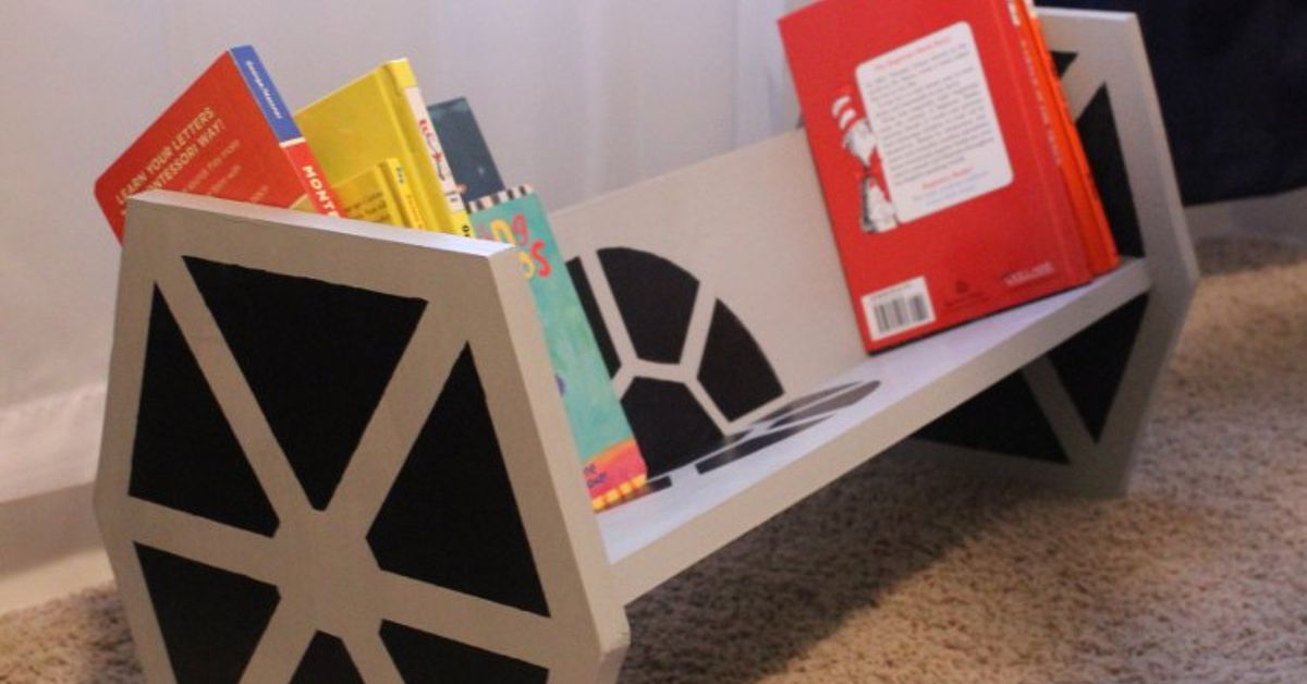 How To Build A Star Wars TIE Fighter Bookshelf