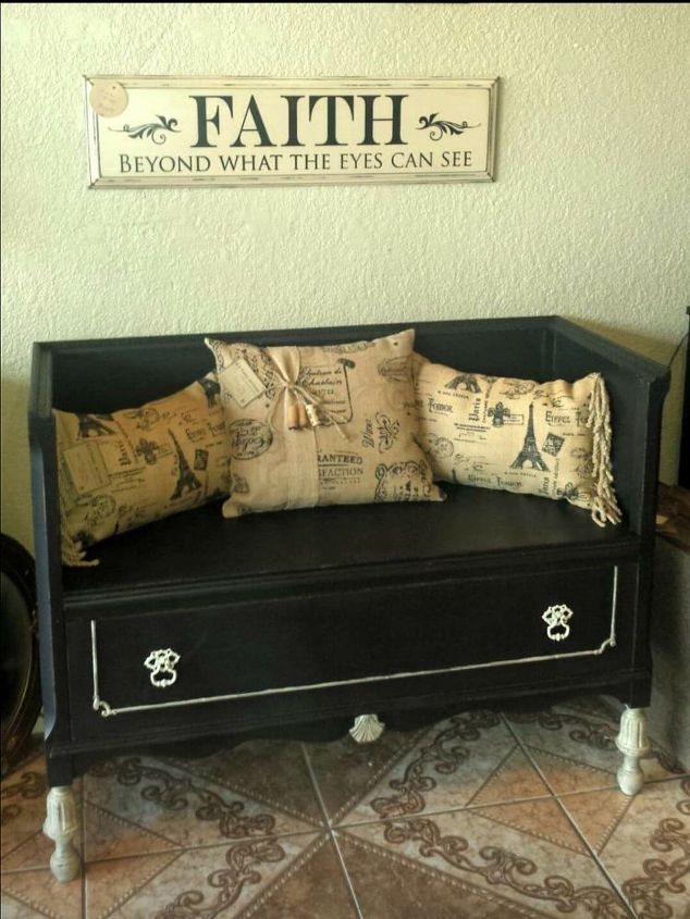 1930 s dresser repurposed into a bench, painted furniture, repurposing upcycling