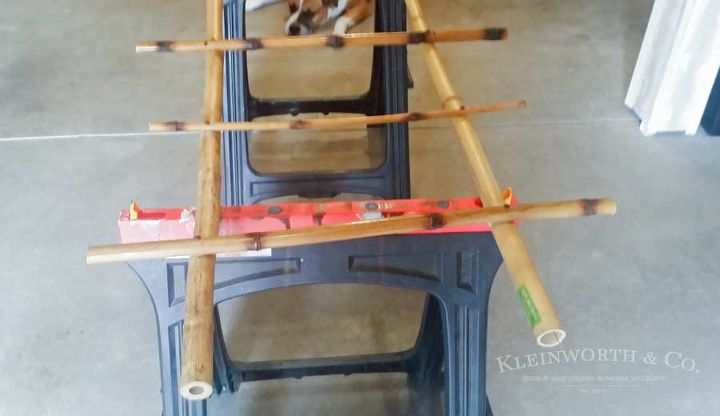 bamboo blanket ladder, bedroom ideas, diy, organizing