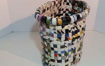 a trash can made from trash, crafts, repurposing upcycling