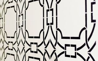 get the look stencil a boho chic accent wall, painting, wall decor