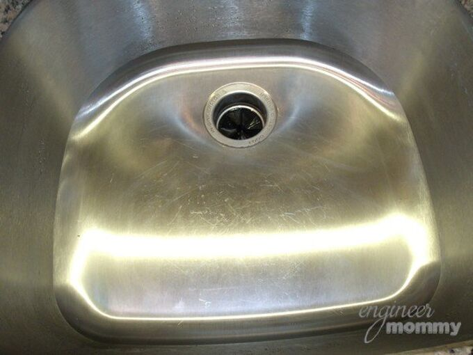 getting a stainless steel sink clean shiny, cleaning tips