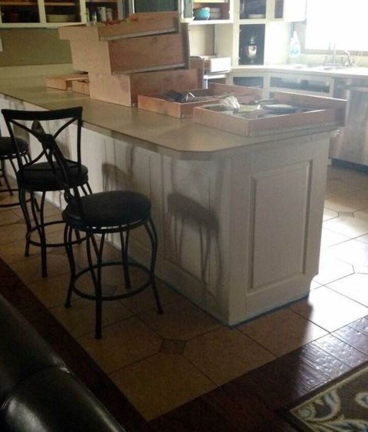 general finishes milk paint kitchen makeover antique white paintjob, kitchen design, painting