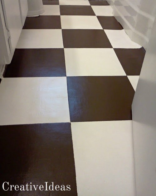 yes you sure can paint that nasty linoleum, flooring, painting