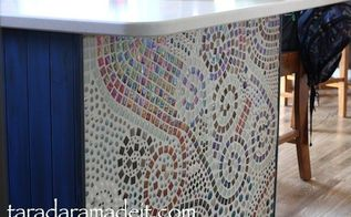 diy how to make a mosaic and install it in your room, how to, kitchen design, kitchen island, tiling