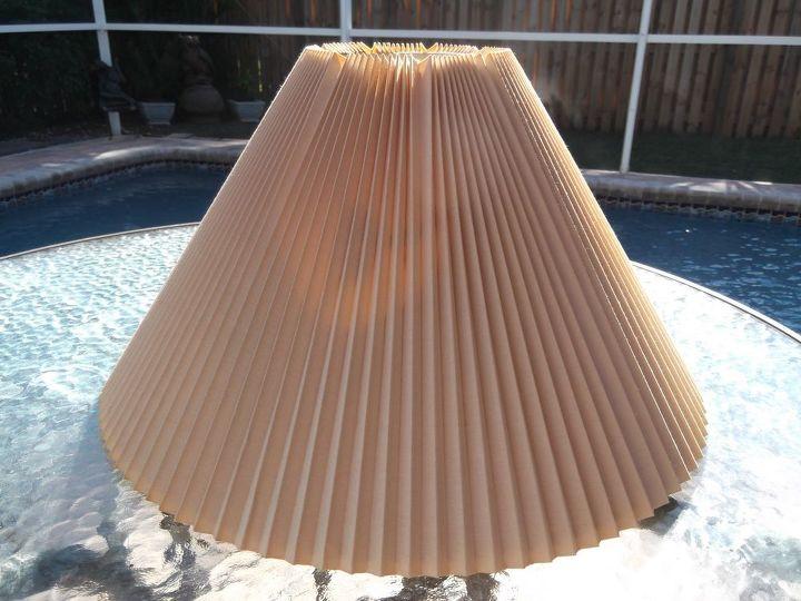 easy diy sunburst mirror from lamp shade, crafts, repurposing upcycling, wall decor, Before