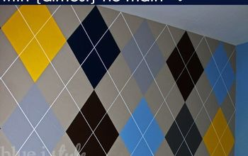 how to paint an argyle wall with almost no math, how to, painting