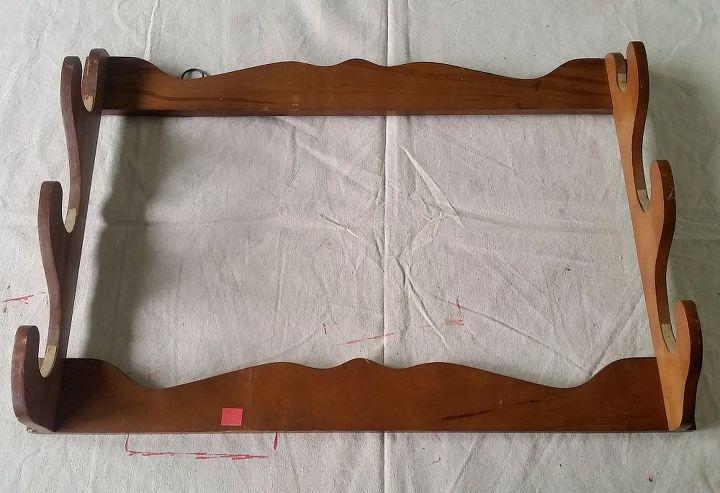 a gun rack that stuns scrap fabric organizer, decoupage, organizing, repurposing upcycling, storage ideas