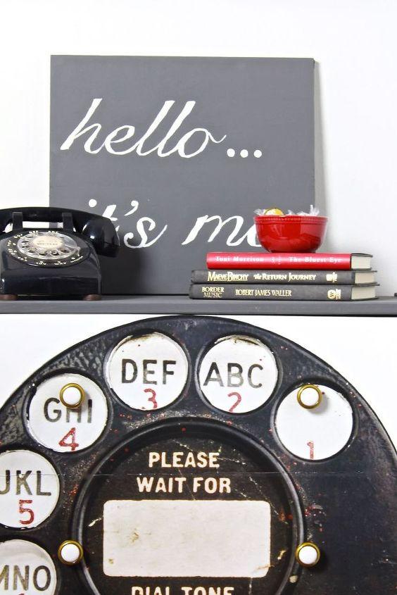 vintage telephone dresser makeover, painted furniture