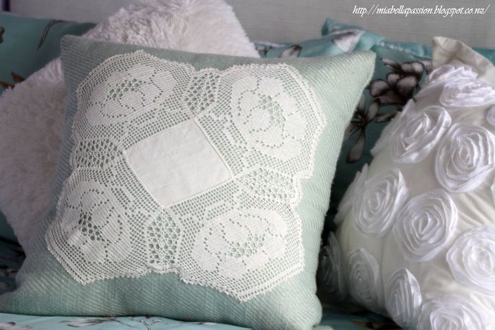 lets create a doily cushion, crafts, repurposing upcycling, reupholster