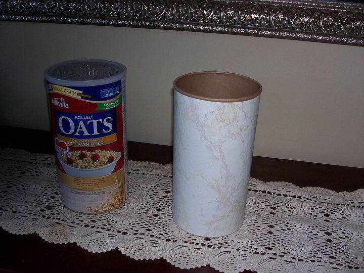 you may ask what do oatmeal and headbands have in common a container, organizing, repurposing upcycling