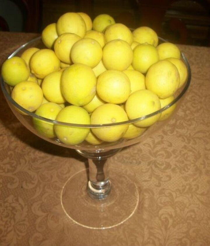 Lemons from my lemon tree.