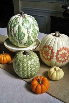 i m sharing one of my favorite fall projects my country living inspired d coupage, crafts, decoupage, seasonal holiday decor, A little nontraditional way to decorate your pumpkins