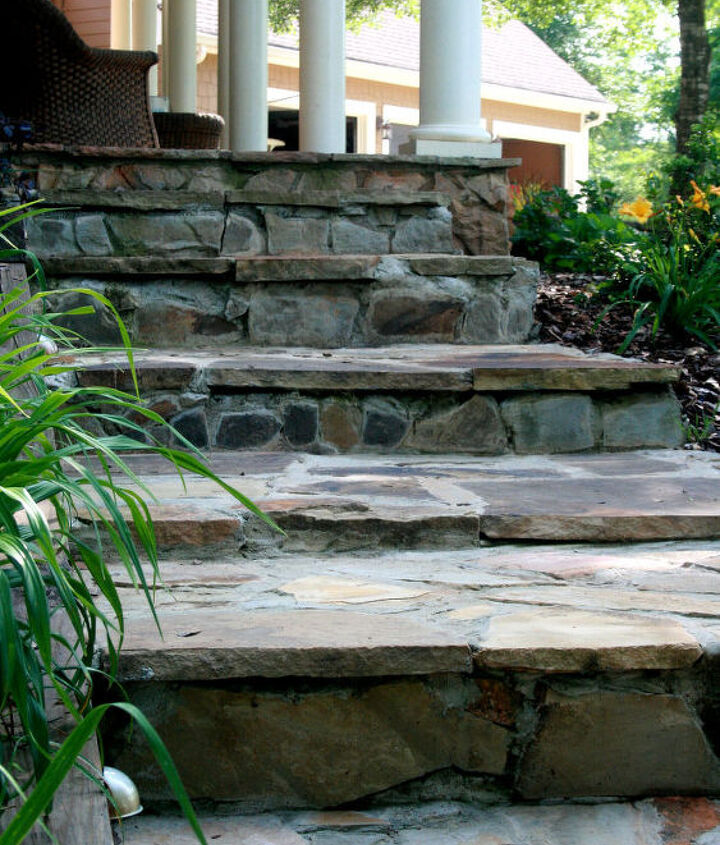 Steps that we completed last fall that lead to the front porch