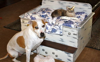 Homemade dog bed or cat bed.