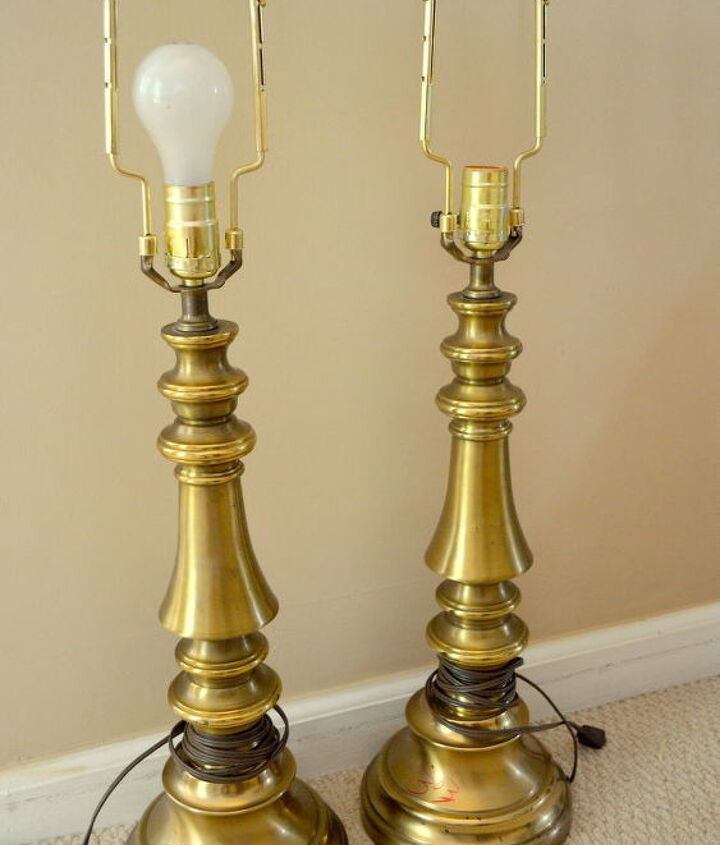 brass lamps updated with spray paint, home decor, painting