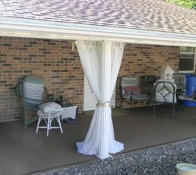 Patio Ideas Outdoor Curtains Budget, Outdoor Living, Porches