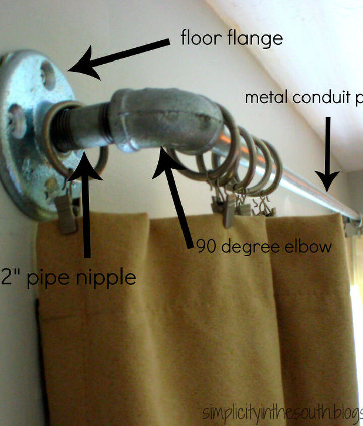 How to make curtain rods from galvanized plumbing parts