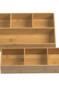 the kitchen clutter magnet the junk drawer, cleaning tips, kitchen design, storage ideas, You can find modular bamboo drawer organizers like this at Bed Bath Beyond or The Container Store