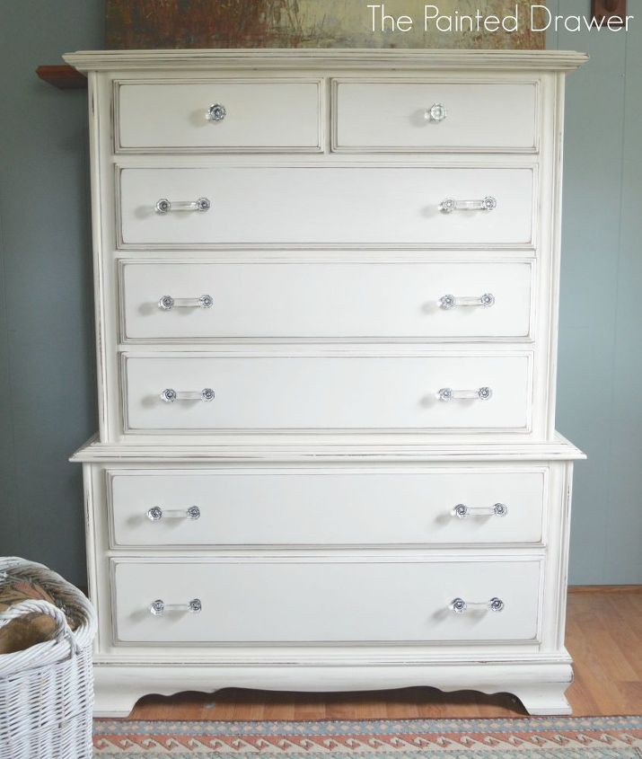 boring to glam chest of drawers, chalk paint, painted furniture
