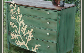 Roadside Rescue ReFab Hand Painted Dresser Makeover #‎ShowYourGreen